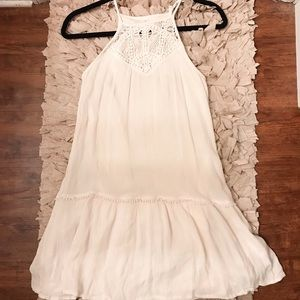 White halter dress!